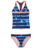 Splendid Girls' Midnight Stripe Racerback Tankini Two Piece Set (7yrs-14yrs)