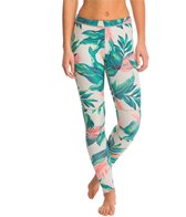 Billabong Women's 1mm Skinny Sea Legs Tropical Zip Free Surf Leggings