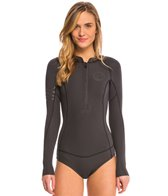 Billabong Women's 2mm Salty Dayz Long Sleeve Chest Zip Springsuit Wetsuit