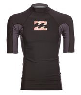 Billabong Men's Iconic Short Sleeve Rash Guard