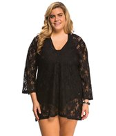 J.Valdi Plus Size Daisy's Daughter Vee Yoke Cover Up Tunic