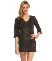 J.Valdi Zip Zag 3/4'' Sleeve Vee Neck Cover Up Tunic
