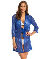 J.Valdi Chevron Tie Front Cover Up Dress