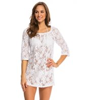 J.Valdi Daisy's Daughter 3/4'' Sleeve Square Neck Cover Up Tunic