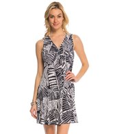 J.Valdi ITY Prints Shirred Front Tank Cover Up Dress