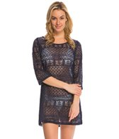 J.Valdi XO Lace 3/4 Sleeve Boatneck Cover Up Tunic