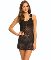 J.Valdi Diamond Crochet Ring Tank Cover Up Dress