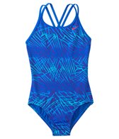 Nike Swimwear Girl's Flux Spiderback Tank One Piece Swimsuit (7yrs-14yrs)