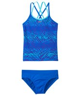 Nike Swimwear Girl's Flux Spiderback Tankini Two Piece Swimsuit (7yrs-14yrs)