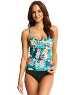 Sunsets Tropical Oasis Shirred Tankini Top