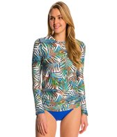 Sunsets Palmera Long Sleeve Crewneck Swim Top