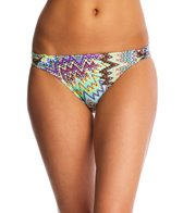 Sunsets Sunburst Side Shirred Bikini Bottom