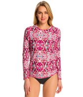 Sunsets Veranda Long Sleeve Crewneck Swim Top