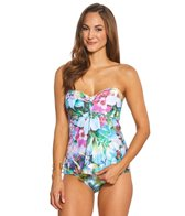 Sunsets Enchanted Garden Underwire Bandeau Tankini Top (E/F/G/H Cup)