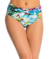 Sunsets Enchanted Garden Twisted High Waist Bikini Bottom