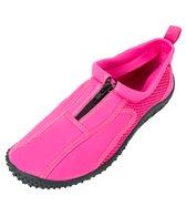 Rockin Footwear Women's Aqua Neon Zipper Water Shoes