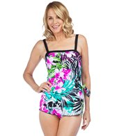 Maxine Waikiki Bandeau Sarong One Piece Swimsuit