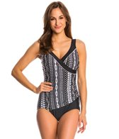 Maxine Shangri La Ikat Surplice One Piece Swimsuit