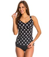 Maxine Diamond Treasure Shirred Tankini Top (D/DD Cup)