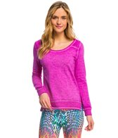 PL Movement Prosper Twisted Seam Hi-Lo Yoga Pullover Coverup