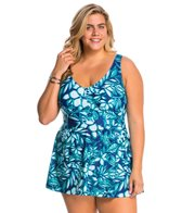 Maxine Plus Size Florida Keys Empire Swimdress
