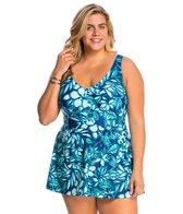 Maxine Plus Size Florida Keys Empire Swimdress
