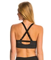 Beyond Yoga Stripe Shirred Crossback Yoga Sports Bra