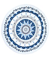 Beach Lulu The Atlantis Round Beach Towel