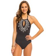 La Blanca Waves in Motion Hi-Neck One Piece Swimsuit