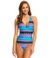 La Blanca Sandbar Strappy Cross Back One Piece Swimsuit