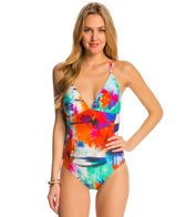 La Blanca Bloom Garden Strappy Back One Piece Swimsuit