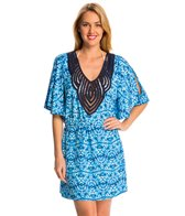 Dotti Tie Dye Twist Cold Shoulder Cover Up Tunic