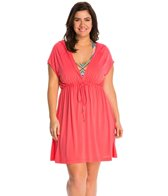 Dotti Plus Size Ocean Avenue Hoodie Cover Up Dress