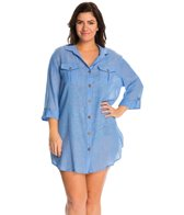 Dotti Plus Size Sanibel Island Shirt Cover Up Dress