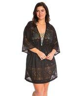Dotti Plus Size Tribal Times Kimono Cover Up Tunic