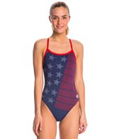 Arena America Challenge Back One Piece Swimsuit