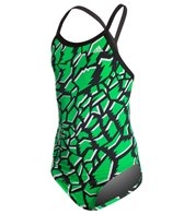 Adidas Youth Primal Vortex Back One Piece Swimsuit