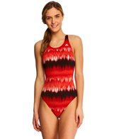 Adidas Graphic Stripe V-Back One Piece Swimsuit