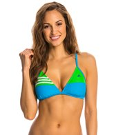 Adidas Women's 3-Stripe Solid Cross Back Bikini Top