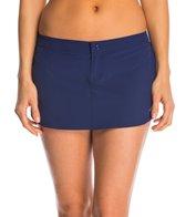 Adidas Women's 3-Stripe Solid Woven Swim Skirt