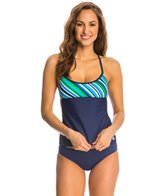 Adidas Women's Layers Stripe Tankini Top