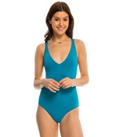 Roxy Sunset Paradise V Neck One Piece Swimsuit