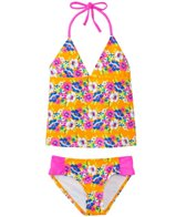 Raisins Girls' High Tide Garden Halter Tankini Two Piece Set (4yrs-6X)