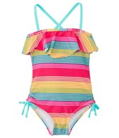 Raisins Girls' Opposite Attract Ruffle One Piece (4yrs-6X)