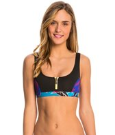 Roxy Pop Surf Polynesia Zipped Bikini Top