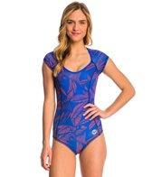 Roxy Pop Surf Polynesia One Piece S/S Swimsuit