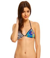 Roxy Pop Surf Polynesia Triangle Print Bikini Top