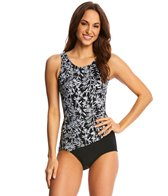 T.H.E Crystal Bamboo Mastectomy Drape One Piece Swimsuit