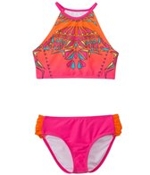 Limeapple Swimwear Girls' Cayo Geometric Tankini Set (7yrs-16yrs)
