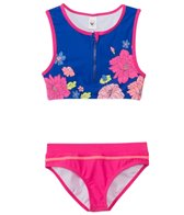 Limeapple Swimwear Girls' Floral Costa Cropped Tankini Set (7yrs-16yrs)